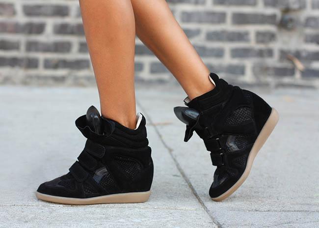 Кроссовки Isabel Marant (Сникерсы) черного цвета