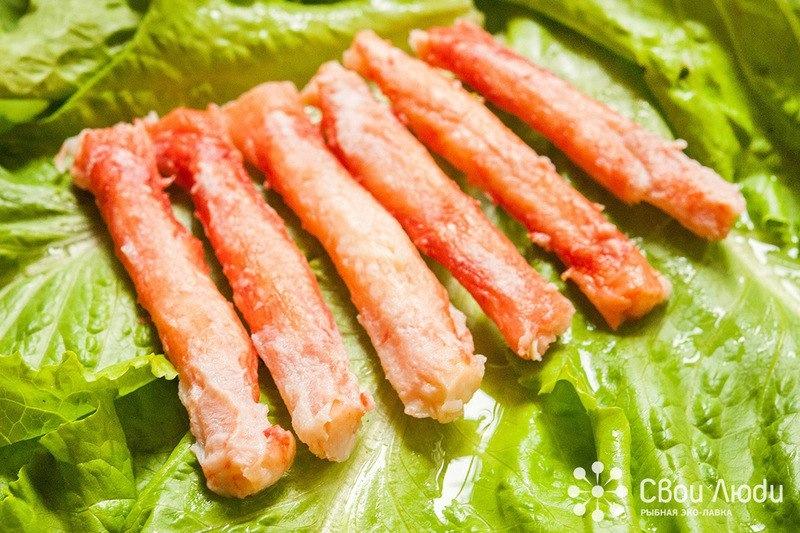 Краб дешевый,конечности краба по 700рублей,салатнка по 600 рублей за кг.