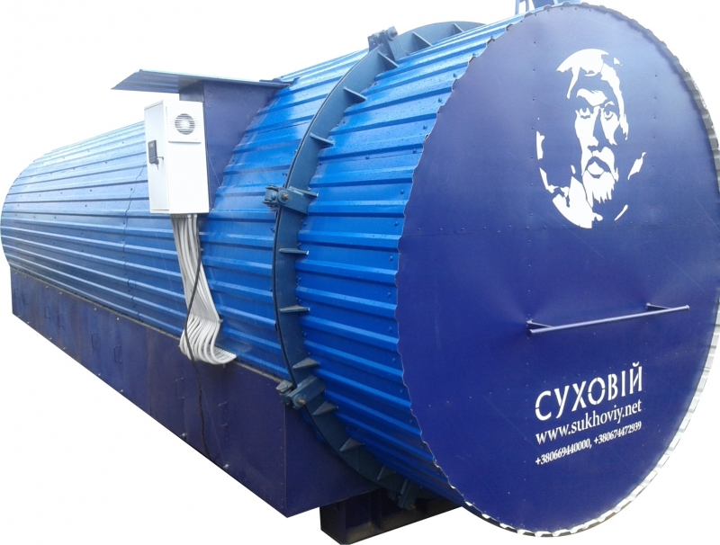 Оборудование для термической обработки термомодификации древесины
