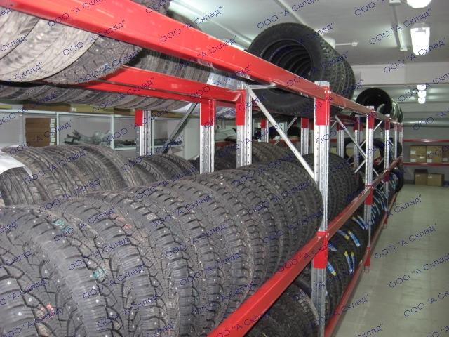 Металлические стеллажи для хранения колес