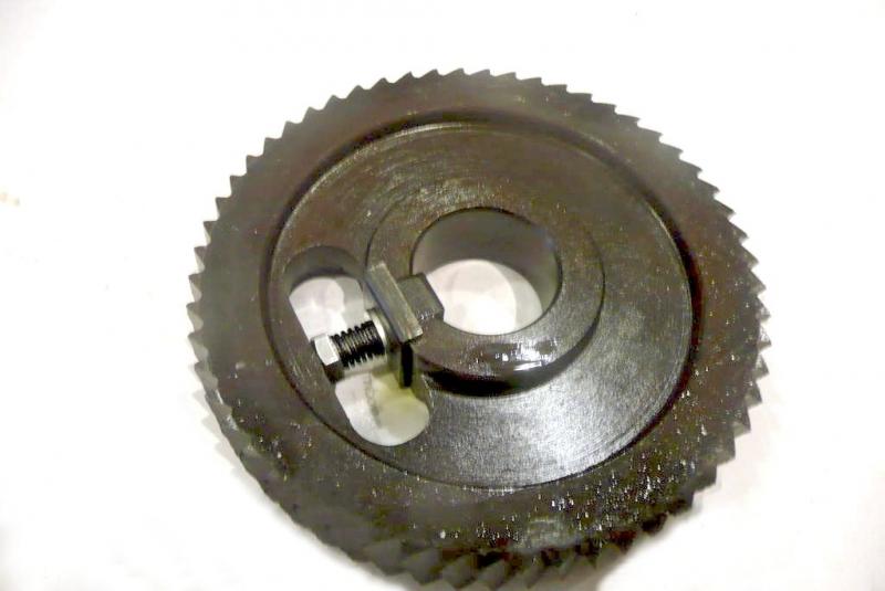 Ролик подающий, приводной зубчатый рябуха 120х30х20 мм