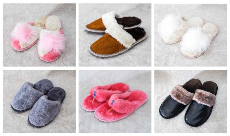 Домашняя обувь из натуральной овчины