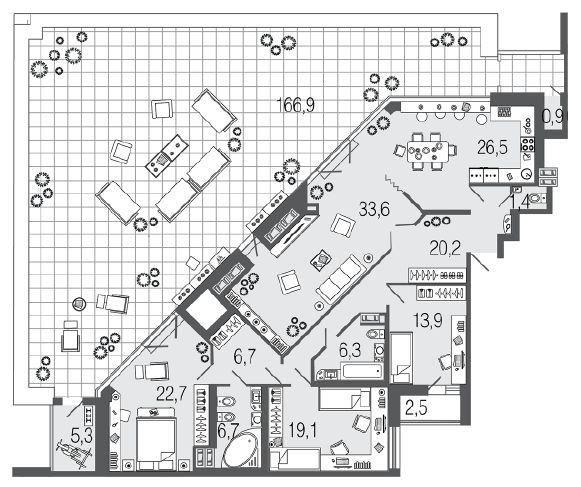 Продается четырехкомнатная квартира в доме бизнес-класса  в СПб